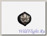 Наклейка Череп, шар №8 и игральные кости (стиль тату) (GPA 004) 3404