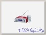 Усилитель аудио компактный, мото (12В, стерео выходы 2х2, вход mp3, тюльпаны, алюм. корпус, БП нет)