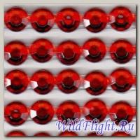 Наклейки набор (20х40) Стразы 8мм red