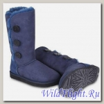 UGG WOMENS BAILEY BUTTON TRIPLET navy 1873