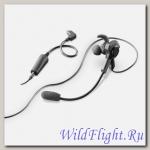 Наушник вкладыш с микрофоном для активного отдыха, спорта и работы для interphone tour/sport/link/urban