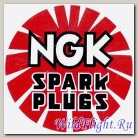 Наклейка эмблема NGK (9х9)