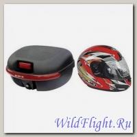 Комплект H2 (Кофр из мягкого (РР) пластика + 1 шлем-интеграл внутри)