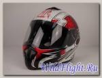 Шлем RSV Racer Dust бело-красный (Dust Red)