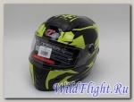 Шлем HIZER B561 black/yellow