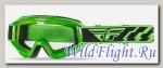 Очки для мотокросса FLY RACING FOCUS (2016) зеленые прозрачные