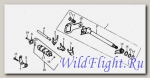 Вал механизма переключения передач LU014767