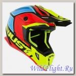 Шлем (кроссовый) JUST1 J38 BLADE желтый/красный/синий глянцевый