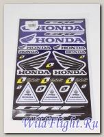 Наклейки набор D6026 Honda blue