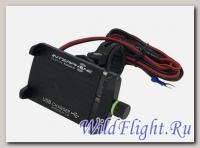 Аллюминиевый универсальный держатель SMMOTOALUSB мотокраб с USB на руль мотоцикла, велосипеда