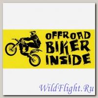 Наклейка Crazy Iron BIKER INSIDE Offroad Yellow