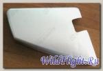 Крышка задней опоры для ног, левая, (серебро C9), пластик LU029456