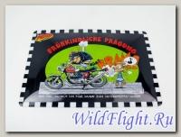 Знак винтажный Fruhkindliche Pragung (мото-характер с детства) 30X20 см
