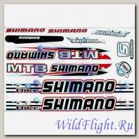 Наклейки набор (23х36) Shimano2