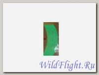 НАКЛЕЙКИ на обод колеса (светоотражающие, набор в блистере, на 2 колеса) (WS 12G) 10-12 зеленый