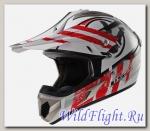Шлем LS2 MX433 STRIPE White Red