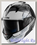 Шлем SHARK Evo-One 2 Slasher white black silver