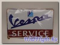 Знак винтажный VESPA тип 18
