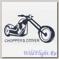 Наклейка Crazy Iron на авто CHOPPERS DRIVER