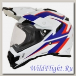 Шлем AFX FX-41DS ADVENTURE WHITE/BLUE/RED