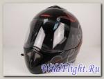 Шлем RSV Racer Flair, чёрно-серебряно-красный (Flair Black)