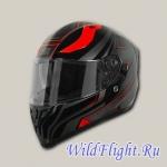 Шлем (интеграл) Origine STRADA Graviter черный/красный глянцевый