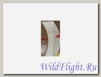 НАКЛЕЙКИ на обод колеса (светоотражающие, набор в блистере, на 2 колеса) (WS 12S) 10-12 серебристый