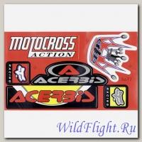Наклейки набор (16х30) Motocross