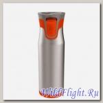 Термокружка-закрывашка Aria оранжевая 600мл.