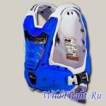 Защита тела с пневмоамортизацией RXR STRONGFLEX синяя/белая