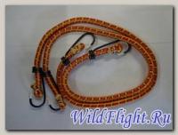 Резинка для крепления багажа с крючками 8мм*0,6м (2шт) 57032