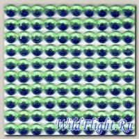 Наклейки набор (10х40) Стразы 4мм green