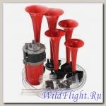 Сигнал звуковой пневматический с компрессором (5 рожков)