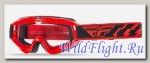 Очки для мотокросса FLY RACING FOCUS (2016) красные, прозрачные