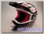 Шлем (кроссовый) FLY RACING F2 CARBON ACETYLENE белый/красный глянцевый (2015)