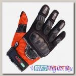 Перчатки MOTOCYCLETTO NETTO оранж, текстиль Iphone touch