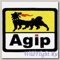 Наклейка эмблема Agip (7х8)