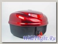 Кофр задний пластик №03 (Альфа) цвет чёрный,синий,красный с катафотом и спинкой (Новый дизайн)