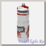 Бутыль для воды Contigo Devon Insulated с носиком легкосжимаемая бело-красная 650мл.