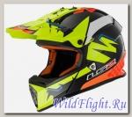Шлем LS2 MX437 FAST VOLT (ISAAC VINALES REPLICA) Black Yellow Orange