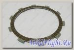 Диск сцепления фрикционный ведомый, сталь/пробка LU059040