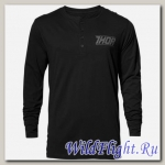 Футболка THOR CORP HENLEY LONG SLEEVE BLACK