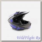 Шлем (кроссовый) Ataki MX801 Strike синий/черный глянцевый