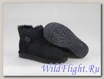UGG WOMENS MINI BAILEY BUTTON black 3352