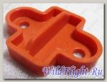 Накладка фиксатора замка, пластик, (оранжевый металлик) LU019556