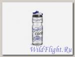 Бутыль для воды Contigo Devon с носиком легкосжимаемая серебристо-синяя 750мл.