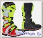 Детские кроссовые мотоботы FORMA COUGAR BLACK/YELFL/RED