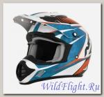 Шлем AFX FX-17 COMP OFFROAD PEARL WHITE/BLUE/ORANGE