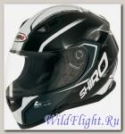 Шлем интеграл Shiro SH-881 Motegi (чёрный-белый)