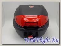 Кофр YM-0830 Black красный отражатель
